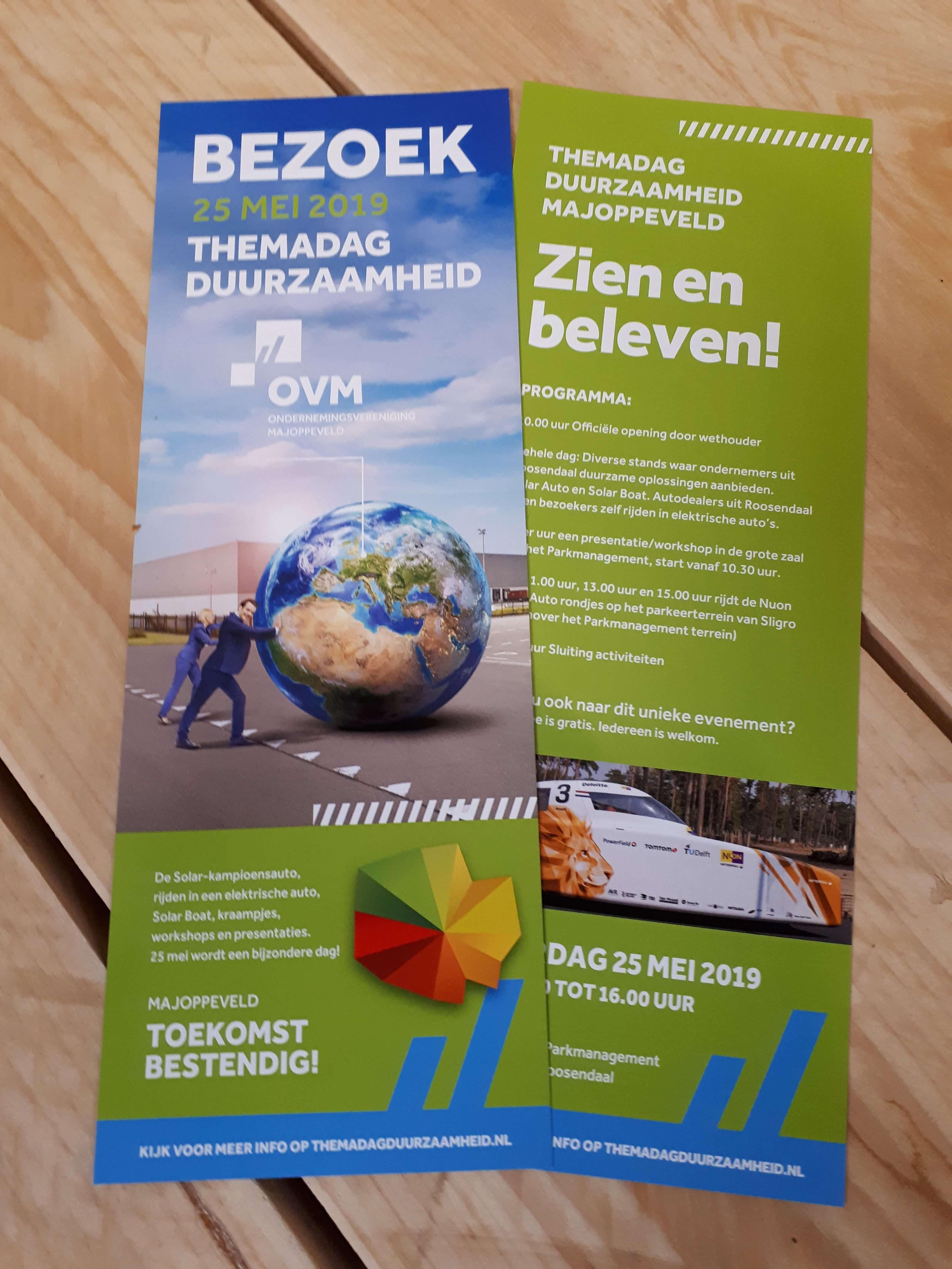 Flyer themadag duurzaamheid Workhouse Roosendaal